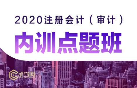 2020注册会计(审计)内训点题班